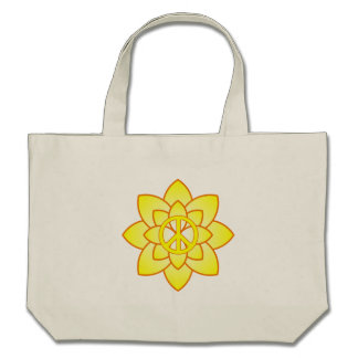 Peace Symbol Flower - Yellow Bags