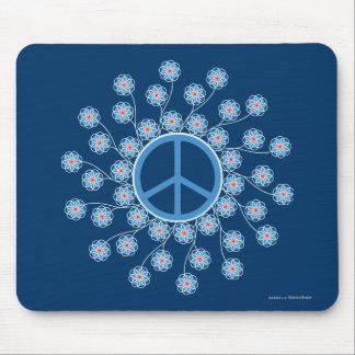 Peace Symbol Flowers Mouse Pad