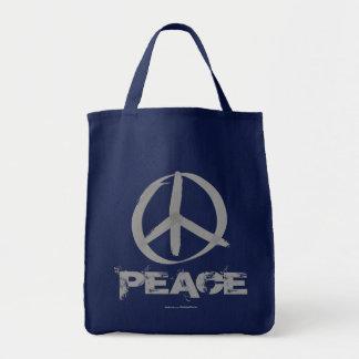 Peace Symbol Grocery Tote Bag