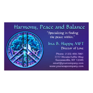 Peace Symbol Harmony Pack Of Standard Business Cards