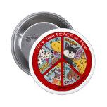Peace Symbol-Humane Pinback Button