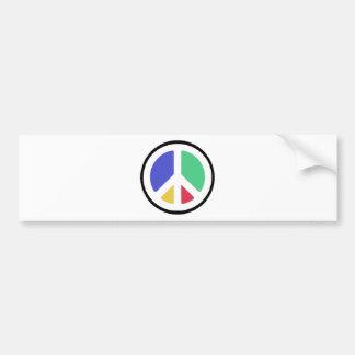 Peace Symbol in colors! Bumper Sticker