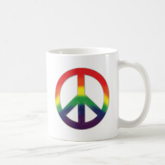 Peace symbol in Rainbow colors Basic White Mug