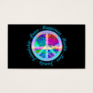 Peace Symbol in Rainbow Colors with Tree of Life