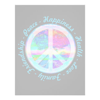 Peace Symbol in Rainbow Colors with Tree of Life Flyer