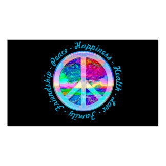 Peace Symbol in Rainbow Colors with Tree of Life Pack Of Standard Business Cards