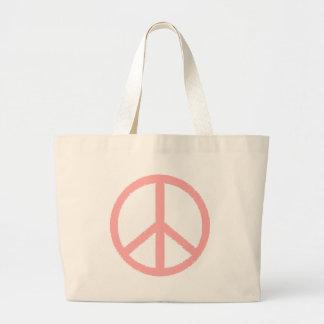 peace symbol jumbo tote bag