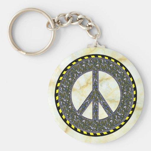 Peace Symbol Keychain