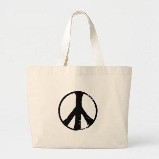 Peace Symbol Large Tote Bag