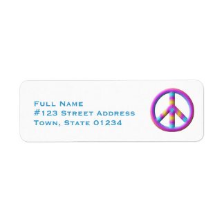Peace Symbol Mailing Labels