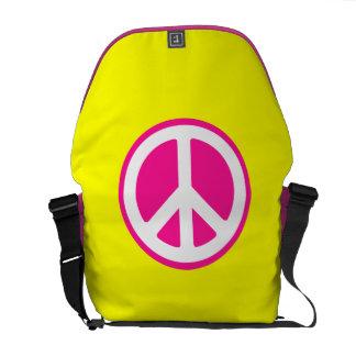 Peace Symbol Courier Bags