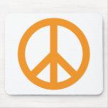 Peace Symbol - Orange