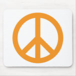 Peace Symbol - Orange Mouse Pad