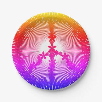 Peace symbol paper plate