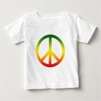 Peace Symbol Rasta Baby T-Shirt
