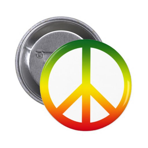 Peace Symbol Rasta Pins