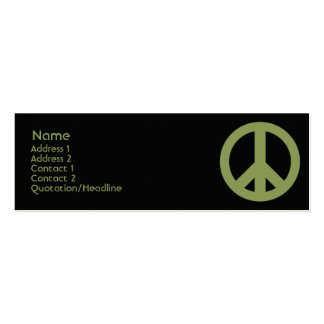Peace Symbol - Skinny Business Card Template