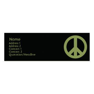 Peace Symbol - Skinny Pack Of Skinny Business Cards