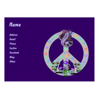 Peace Symbol Snake Business Card Template