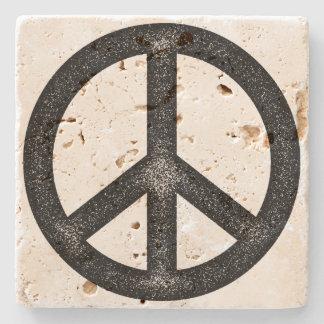 Peace Symbol Stone Beverage Coaster
