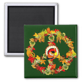 Peace Symbol Thanksgiving Turkey Magnets