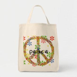 Peace Symbol Tote Grocery Tote Bag