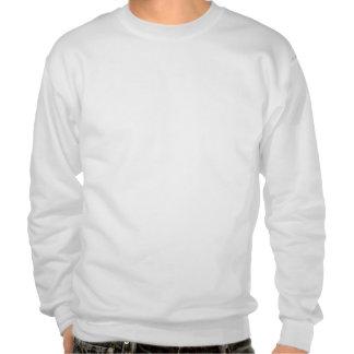 Peace symbol pull over sweatshirt