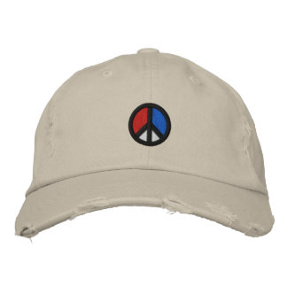 Peace Symbol U S A Baseball Cap