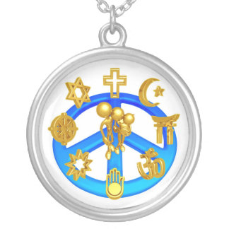 Peace Symbol Uniting All World Religions Necklace