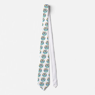 Peace Symbol Uniting All World Religions Tie