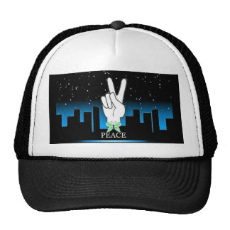 Peace Symbol with a City Background Cap