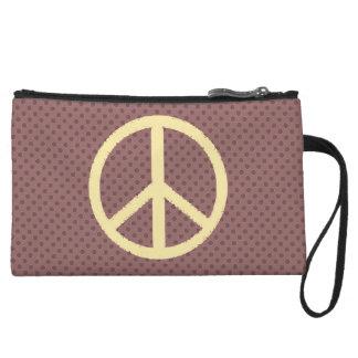 peace symbol wristlet purses