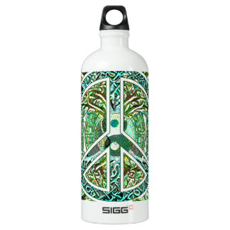 Peace Symbol, Yin Yang, Tree of Life in Green SIGG Traveller 1.0L Water Bottle