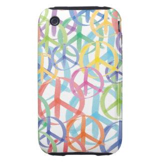 Peace Symbols Art Tough iPhone 3 Cases