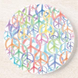 Peace Symbols Art Beverage Coasters