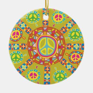 Peace Symbols Design Christmas Ornament