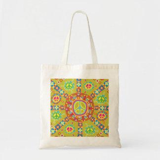 Peace Symbols Design Budget Tote Bag