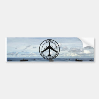 Peace the Old Fashion Way (Bumber Sticker) Bumper Sticker