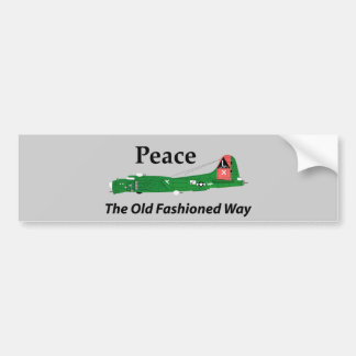 Peace The Old Fashioned Way Car Bumper Sticker