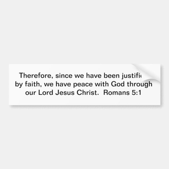 Peace Through Christ Bumper Sticker