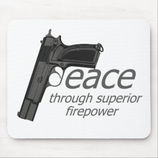 peace through firepower mouse pad