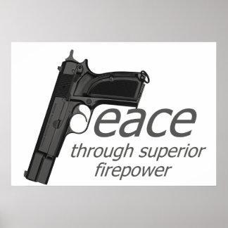 peace through firepower poster