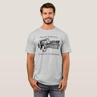 Peace Through Firepower seen in Aliens T-Shirt