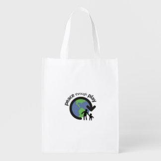 Peace through Play Reusable Bag