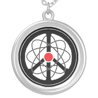 Peace Through Science Silver Plated Necklace