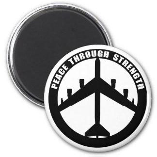 Peace Through Strength 6 Cm Round Magnet