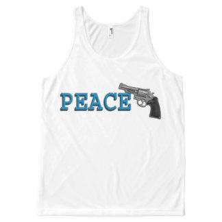 PEACE THROUGH STRENGTH All-Over PRINT TANK TOP