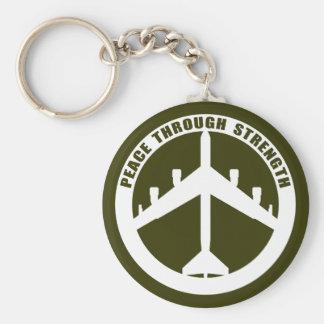 Peace Through Strength Key Ring
