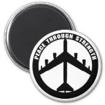 Peace Through Strength Magnets
