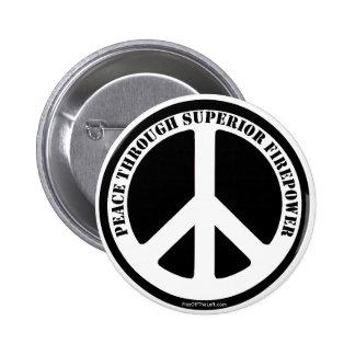 Peace Through Superior Firepower 6 Cm Round Badge